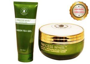 Kem Body Trà Xanh Princess White Green Tea dưỡng trắng da toàn thân