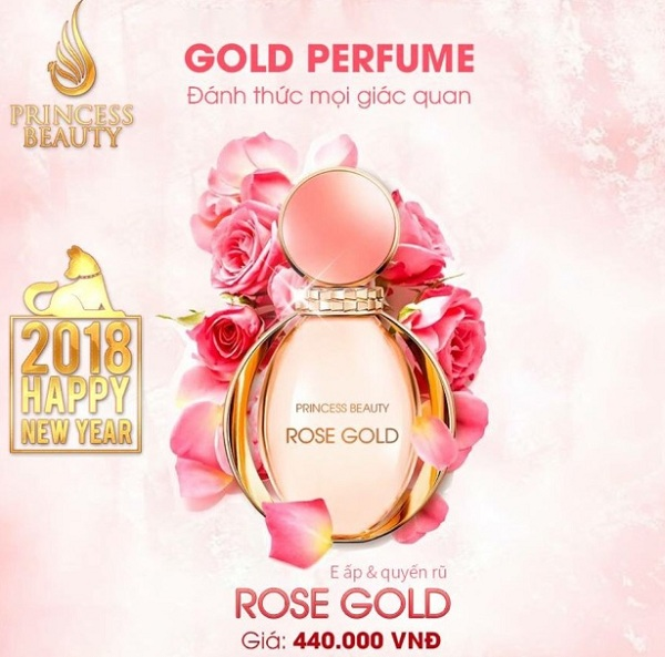 Nước Hoa Rose Gold princess white